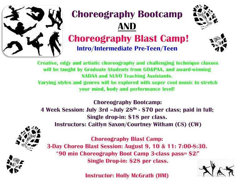 GD&PAA Summer Class - Choreography Bootcamp & Blast!!