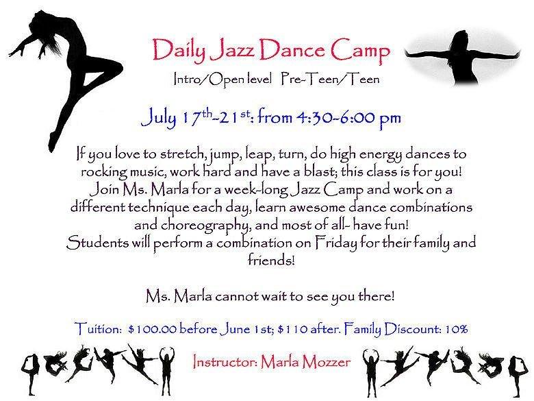 GD&PAA Summer Class - Daily Jazz Dance