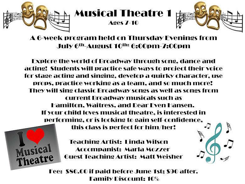 GD&PAA Summer Class - Musical Theatre 1