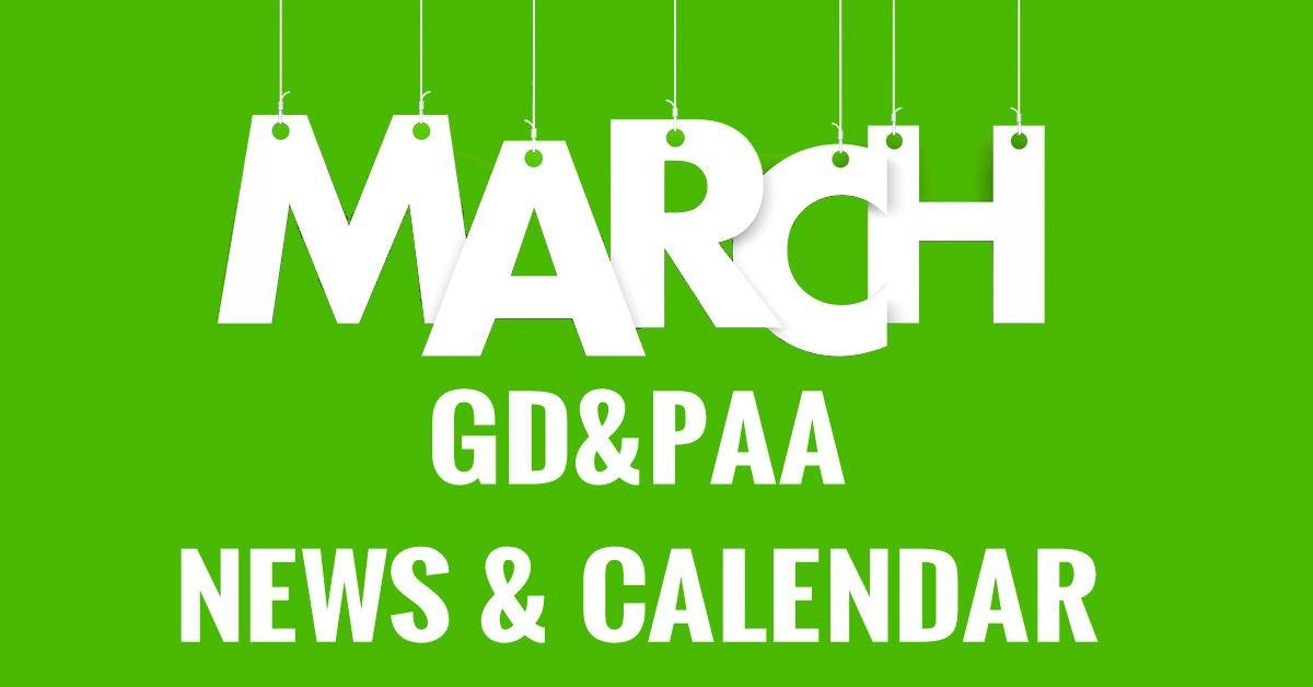 March 2019 GD&PAA Newsletter / Calendar