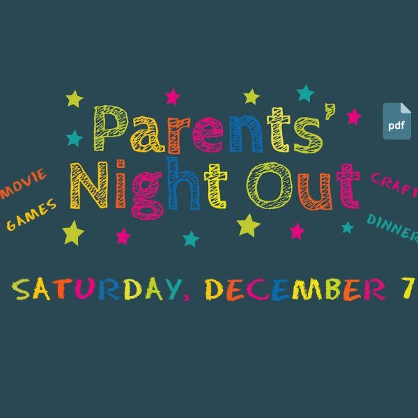 COMPANY WEAR, PARENTS' NIGHT OUT, NOVEMBER 2019 NEWSLETTER / CALENDAR