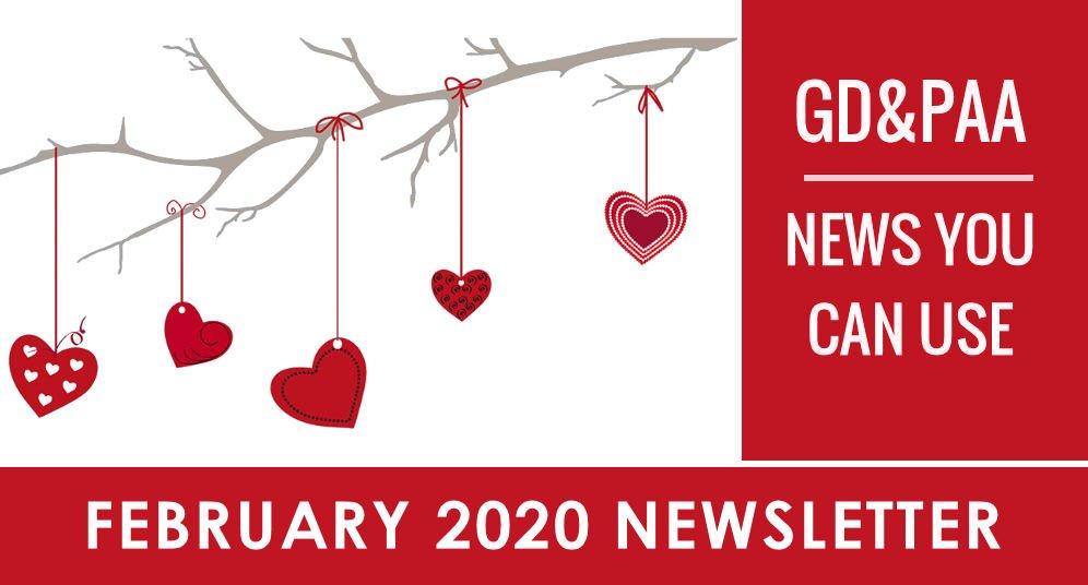 GD&PAA — February 2020 Newsletter & Calendar