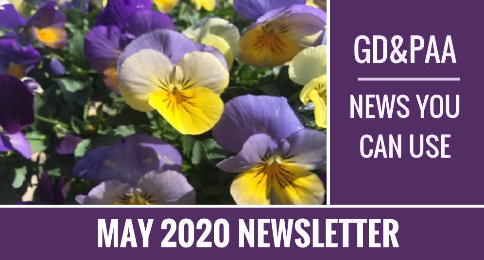 Click for May 2020 GD&PAA Newsletter