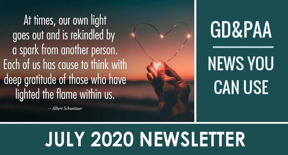 Click for July 2020 GD&PAA Newsletter