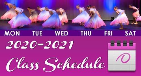 2020-2021 GD&PAA Season Class Schedule