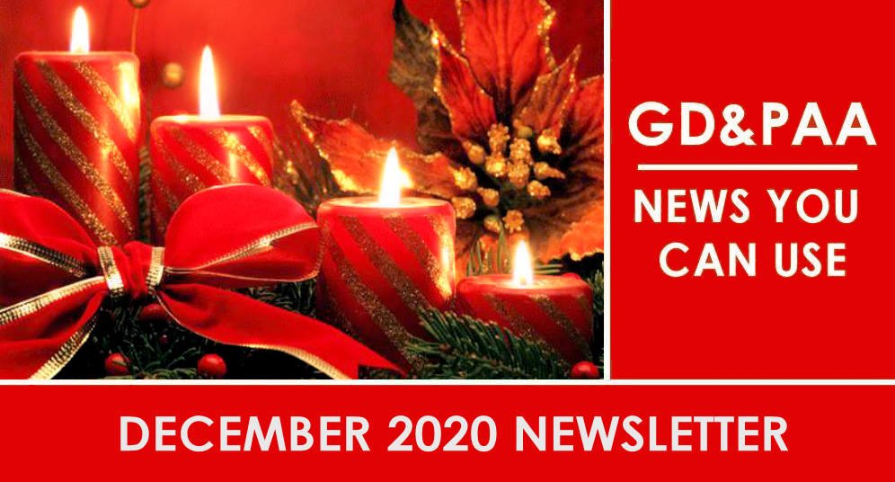 Click for the December 2020 GD&PAA Newsletter