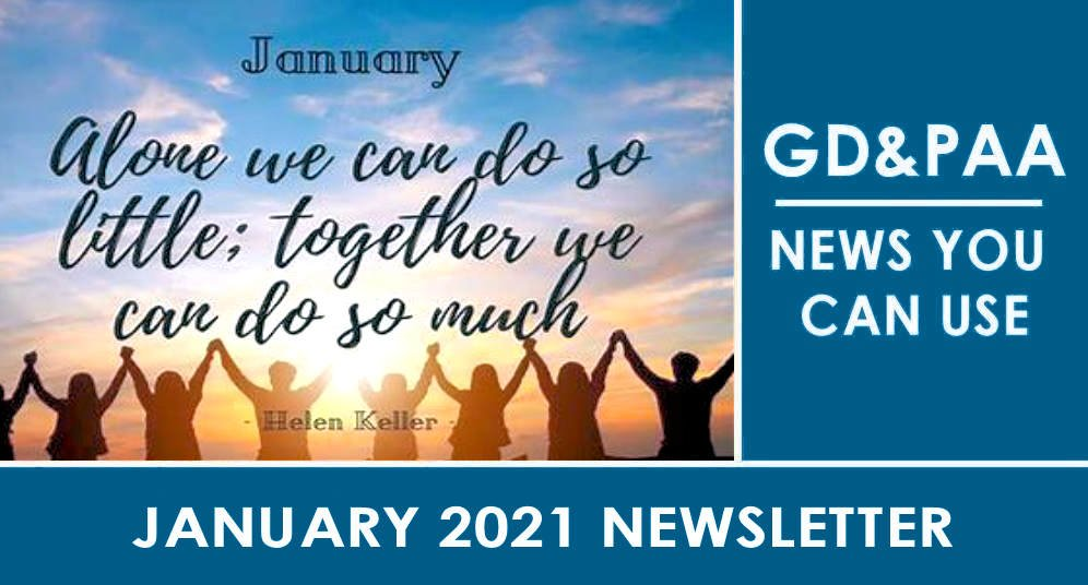 Click for the January 2021 GD&PAA Newsletter