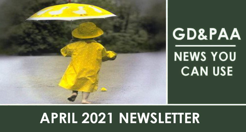 Click for the April 2021 GD&PAA Newsletter