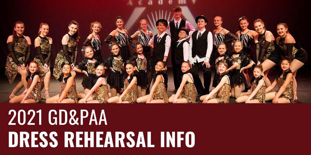 2021 Showcase Dress Rehearsal Info