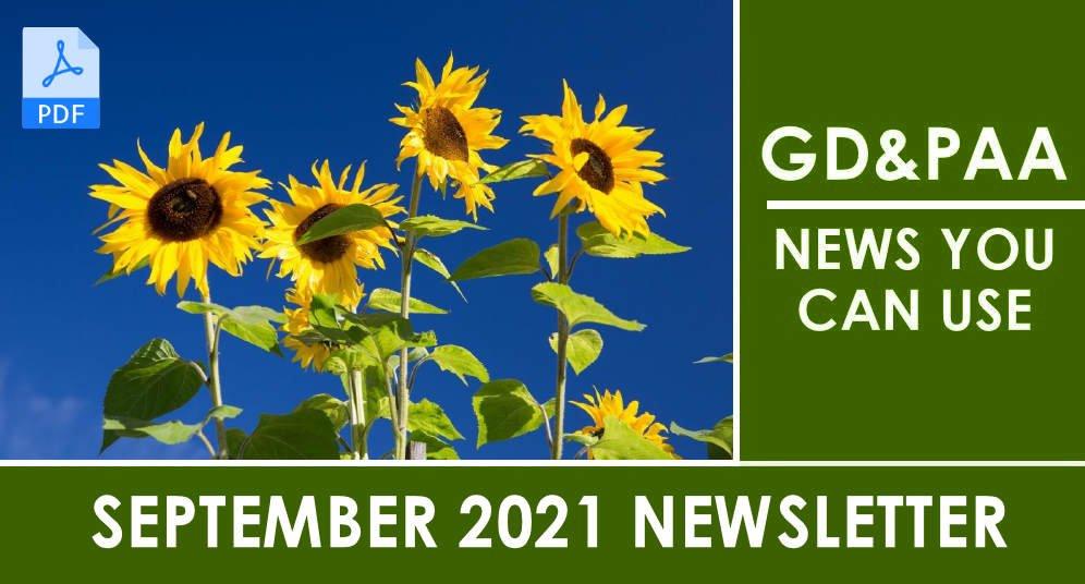 September 2021 GD&PAA Newsletter